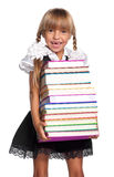 Little girl with books Royalty Free Stock Photo