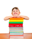 Little Girl with a Books Royalty Free Stock Photography