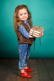 Little girl with books. Stock Photography