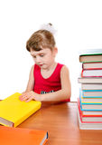 Little Girl with the Books Royalty Free Stock Photos