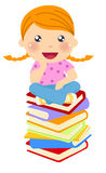 Little girl and books Stock Photography