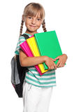 Little girl with books Royalty Free Stock Photos