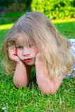Little girl is bored Royalty Free Stock Images