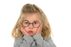 Little girl is bored Royalty Free Stock Photos