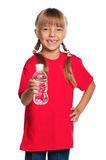 Little girl with bottle of water Stock Photo
