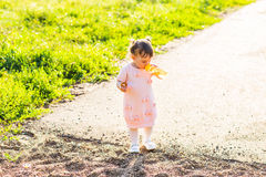 Little girl with bottle of water Royalty Free Stock Image