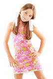 Little girl with bows Royalty Free Stock Image