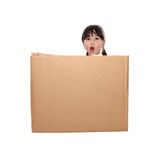 Little girl in the box Royalty Free Stock Photography