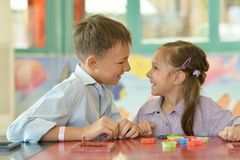 Little girl with boy Royalty Free Stock Images