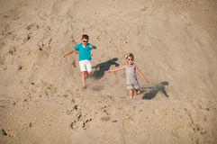 Little girl and boy playing Royalty Free Stock Images