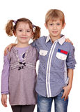 Little girl and boy posing Stock Image