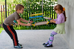 Little girl and boy stock photography