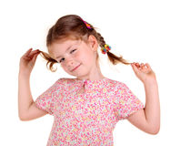 Little girl with braids Stock Image