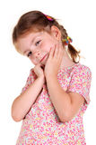 Little girl with braids Royalty Free Stock Photos