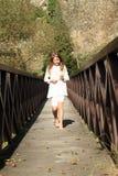 Little girl on bridge Royalty Free Stock Photography
