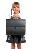 Little girl with briefcase Royalty Free Stock Image
