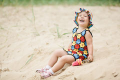 Little girl with bright colorful dress Royalty Free Stock Photo