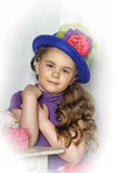 Little  girl in a bright dress Stock Photography