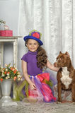 Little  girl in a bright dress Royalty Free Stock Photography