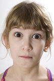 Little girl with brown eyes Stock Image