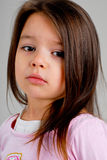 Little girl with brown hair stock image