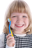 Little girl with brushes Stock Photos