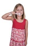 Little Girl Brushing Teeth Stock Photography