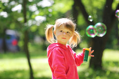 Little girl with  bubble Royalty Free Stock Photography