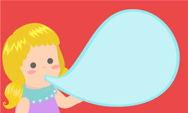 Little-girl-bubble Royalty Free Stock Photography