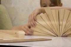 Little girl build construction Royalty Free Stock Photos