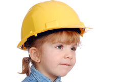 Little girl builder Stock Photography