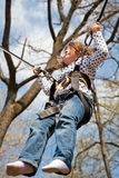 Little girl in a bungee Royalty Free Stock Images