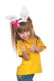 Little girl with bunny ears Stock Photo