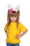 Little girl with bunny ears Royalty Free Stock Photography