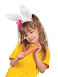 Little girl with bunny ears Stock Image