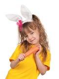Little girl with bunny ears Stock Image