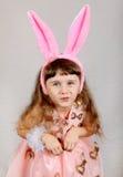 Little Girl with Bunny Ears Stock Photography