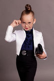 Little girl business Lady in glasses Royalty Free Stock Photography