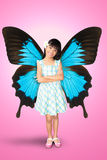 Girl with butterfly wings Stock Images