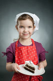 Little girl with a cake Royalty Free Stock Images