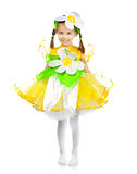 Little girl in camomile costume Stock Image