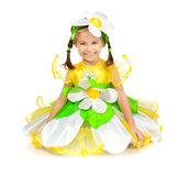 Little girl in camomile costume Stock Images