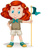 Little girl in camping outfit Royalty Free Stock Image