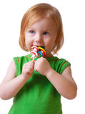 Little girl with candy Stock Photography
