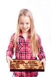 Little girl with candy box Royalty Free Stock Photography