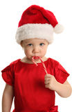 Little Girl with Candy Cane Stock Image