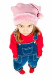 Little girl in a cap Royalty Free Stock Image