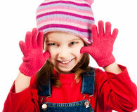 Little girl in a cap Royalty Free Stock Photo