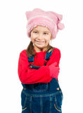 Little girl in a cap Stock Photo