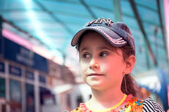 Little girl in cap. Stock Photography